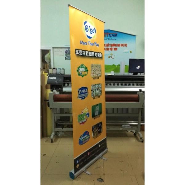 [Nhập khẩu chính hãng] Khung Standee cuốn banner nhôm loại thường 60x160cm