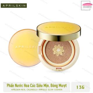 Phấn Nước Hoa Cúc Siêu Mỏng Mịn AprilSkin Real Calendula Ampoule Glow Cushion SPF50+PA++++ 13g thumbnail