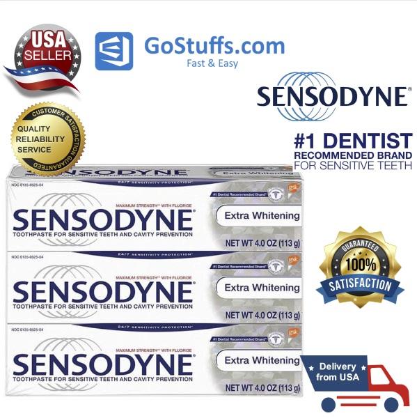 [HCM][H&agraveng Mỹ] Combo 3 tu&yacutep kem đ&aacutenh răng Sensodyne Toothpaste for Sensitivity cho răng nhạy cảm 339g