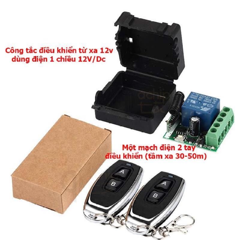Bộ công tắc điều khiển từ xa 12V/10A 2 tay điều khiển (2 remote)