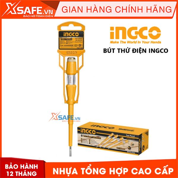 Bảng giá Bút thử điện có đèn INGCO 100-500V kiểu dáng gọn gàng, khả năng chịu lực, chịu nhiệt, cách điện tốt, nhựa siêu bền chắc chống va đập - Sản phẩm chính hãng [XSAFE] [XTOOLs]