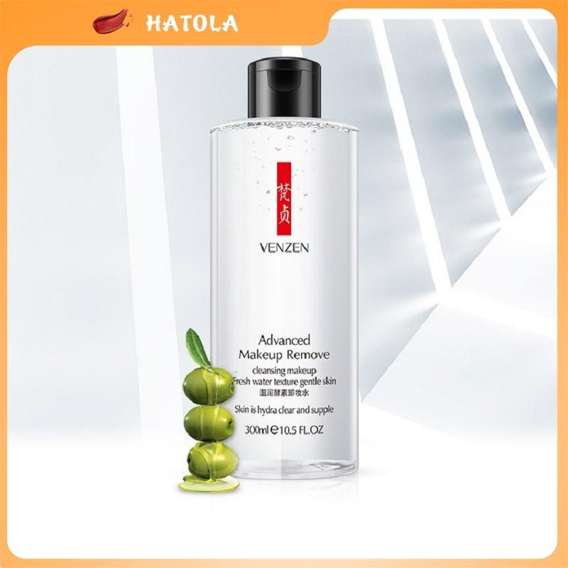 HATOLA - Nước tẩy trang sạch sâu dịu nhẹ, Tẩy trang như nhiên, Nước trang điểm sạch bụi bẩn Advenced Venzen 300ml HTL-NTT01 nhập khẩu
