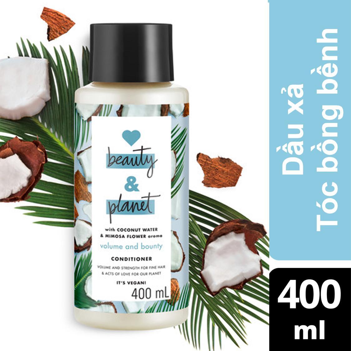 Dầu xả tóc bồng bềnh Love Beauty And Planet Volume and Bounty 400ml nhập khẩu