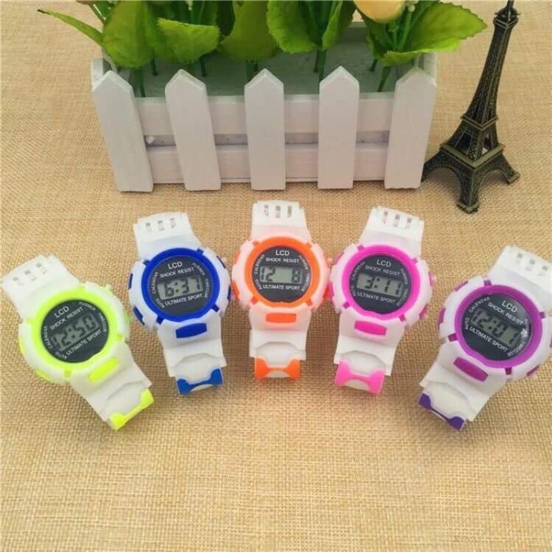 Nơi bán (Tặng hộp đựng đồng hồ) Đồng hồ thời trang trẻ em led SHOCK RESIST J79