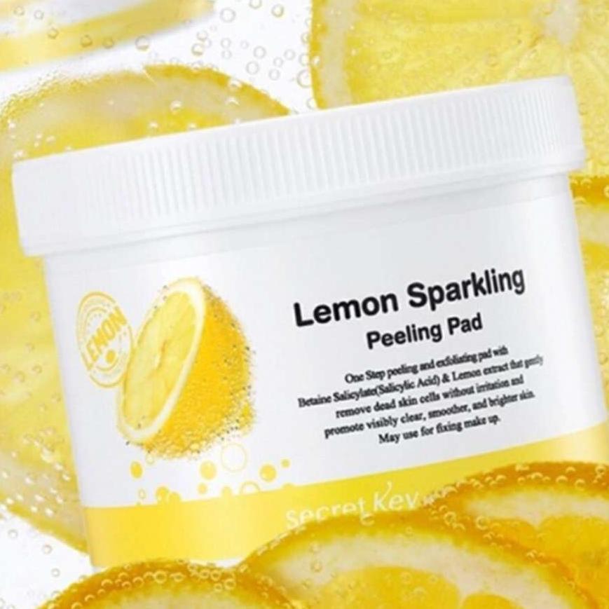 Tẩy Tế Bào Chết Dạng Miếng Secret Key Lemon Sparkling Peeling Pad 70 miếng