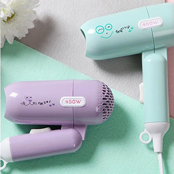 Máy sấy tóc tóc du lịch gấp gọn 2 cấp độ 450W ( Nhiều hoạ tiết) [Máy làm tóc- máy sấy tóc giá rẻ - máy sấy tạo kiểu tóc ]