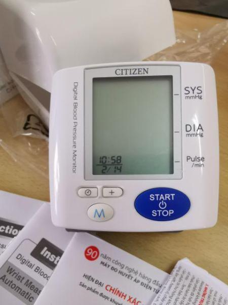 Máy đo huyết áp điện tử cổ tay CITIZEN CH-617 NHẬT BẢN bán chạy