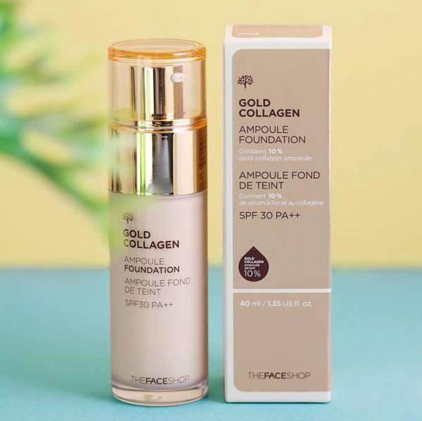 Kem nền The Face Shop Gold Collagen Ampoule Foundation cao cấp
