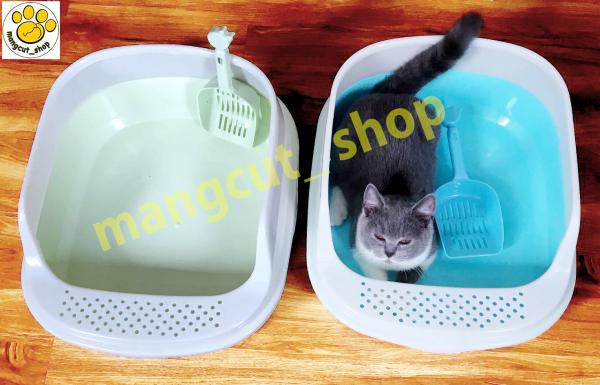 Khay Vệ Sinh Lớn Thành Cao Cho Mèo (kèm xẻng) - Nhà Vệ Sinh Lớn cho mèo