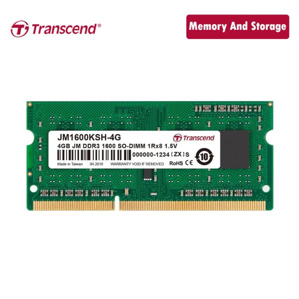Bảng giá Ram Transcend DDR3 1600Mhz 4GB SO-DIMM chính hãng Phong Vũ