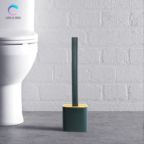 [Siêu Sạch] Cọ bồn cầu silicon siêu sạch, cọ vệ sinh toilet kèm hộp đựng - Tặng kèm 2 miếng dán