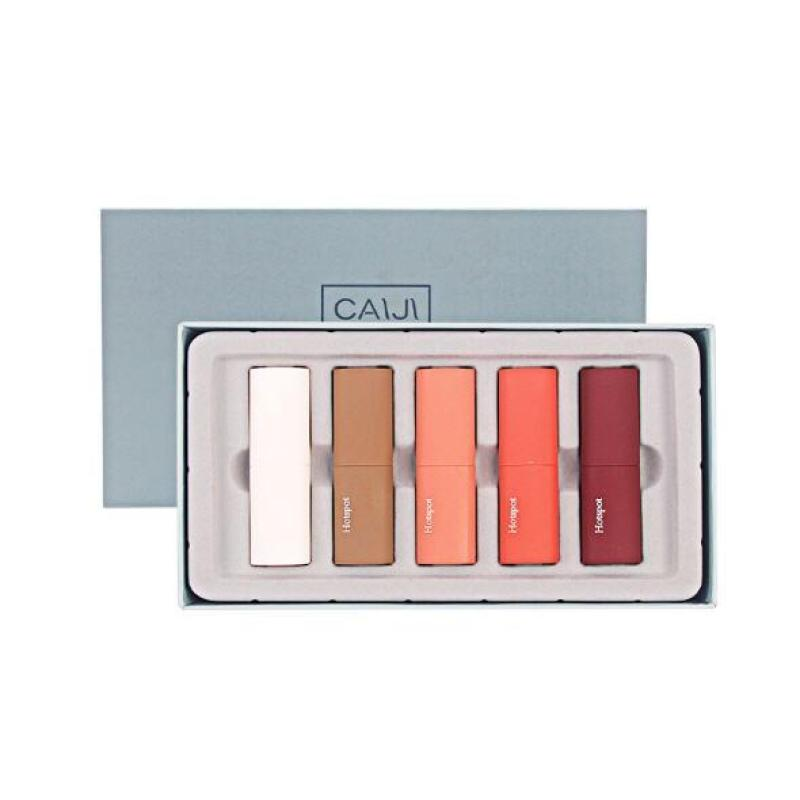 Son Sáp Lì CAIJI Mousse Velvet Lipstick Full Set 5 Cây Nội Địa Trung ST01 giá rẻ