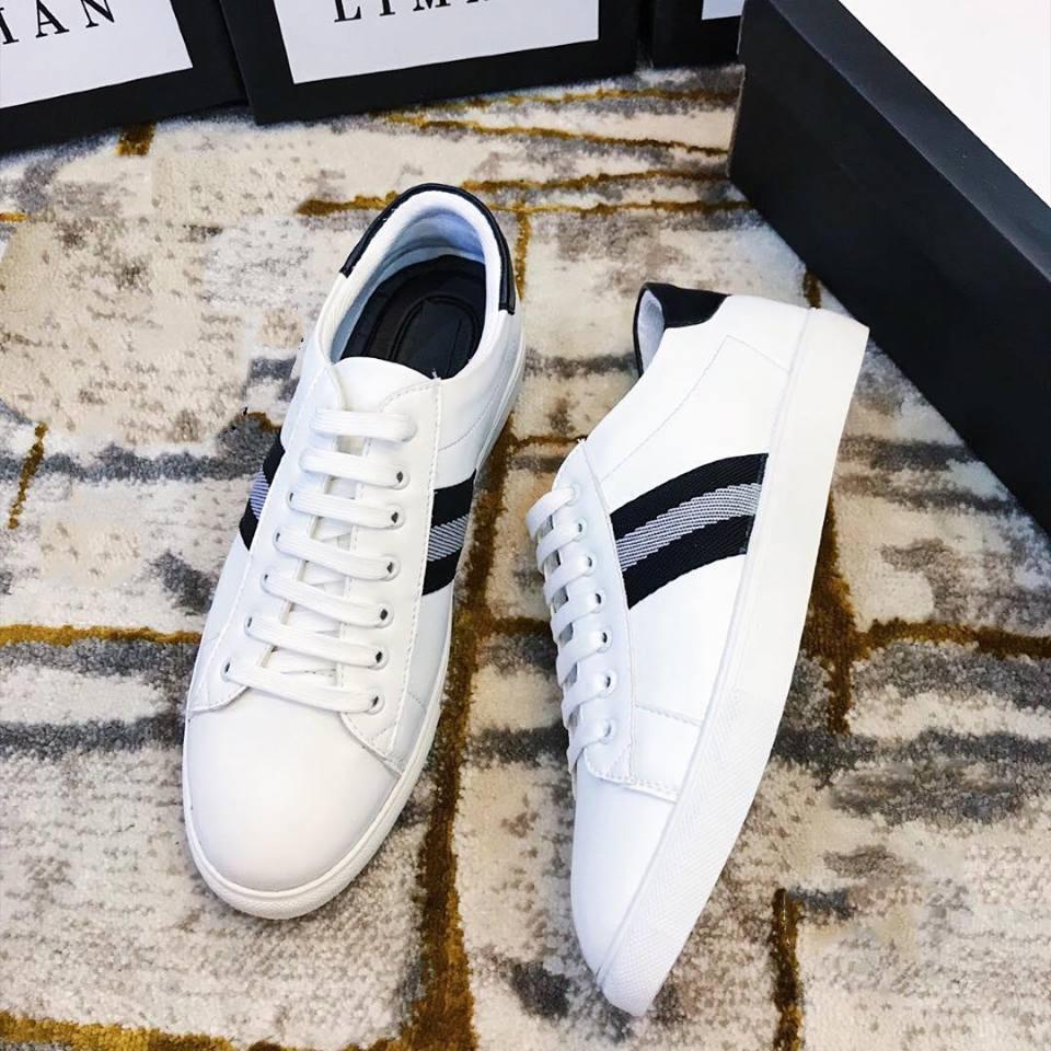 Giày Sneaker Nam, Giày Thể Thao Nam, Giày Nam Hot Sọc Trắng ( đỏ - Trắng ) Cổ Thấp-mã WB01 Khuyến Mãi Sốc Có Giá Rất Cạnh Tranh