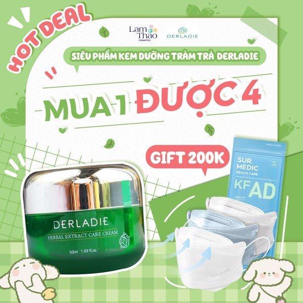 Kem Dưỡng Tràm Trà Giảm Mụn Kiềm Dầu Derladie Herbal Extract Care Cream 50ml