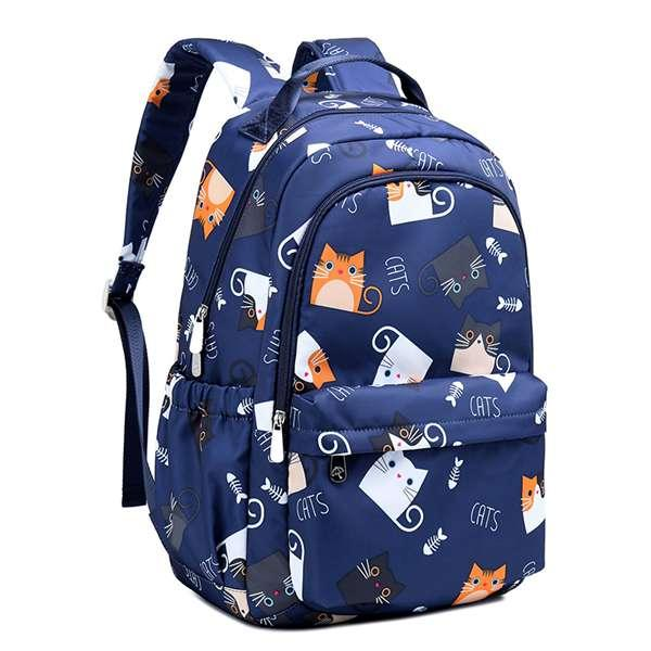 Giá bán Waterproof Kawaii Cat Printing Backpack Women School Students Backpack Female 15.6 Inch Laptop Cute Bookbag