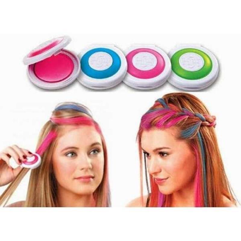 Hộp 4 phấn nhuộm tóc-phấn nhuộm tóc-phấn tạo màu tóc-sản phẩm nhuộm tóc highlight,giúp bạn thể hiện cá tính dễ dàng nhanh chóng cao cấp