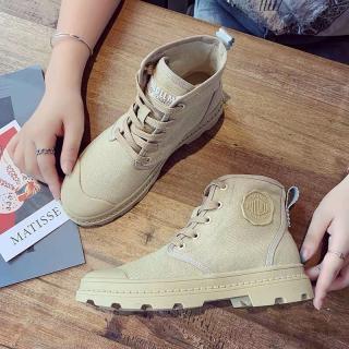 Giày boot nữ cao cổ PALL - Bốt nữ vải đẹp phong cách hàn quốc 2020 đi học đi chơi đi làm thumbnail