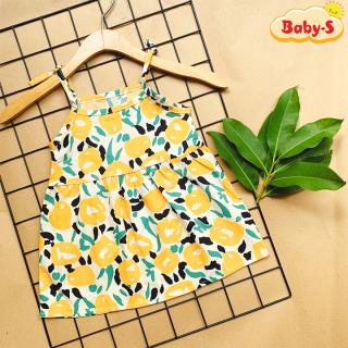 Đầm 2 dây cho bé gái 8-22kg, Váy 2 dây chất thô mềm nhẹ mát họa tiết tươi sáng siêu hot hit mùa hè Baby-S - SD084 thumbnail