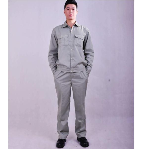 Bộ quần áo bảo hộ lao động màu ghi size L