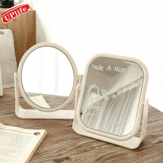 Gương trang điểm để bàn hai mặt xoay 360 độ dùng trong gia đình thiết kế xinh xắn nhỏ gọn thumbnail