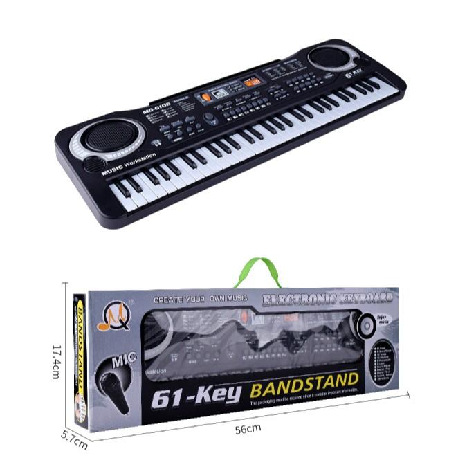 Đàn Piano Electronic Keyboard 61 Phím Kèm Mic Cho Bé