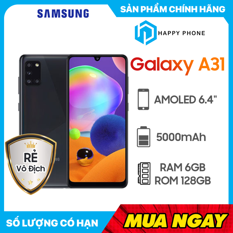 [Trả góp 0%] Điện Thoại Samsung Galaxy A31 (6GB/128GB) - Hàng chính hãng Mới 100% Nguyên seal Bảo hành 12 tháng