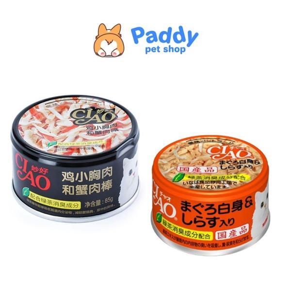 Pate Ciao cho mèo lon 85g - Phi lê gà&Thanh cua
