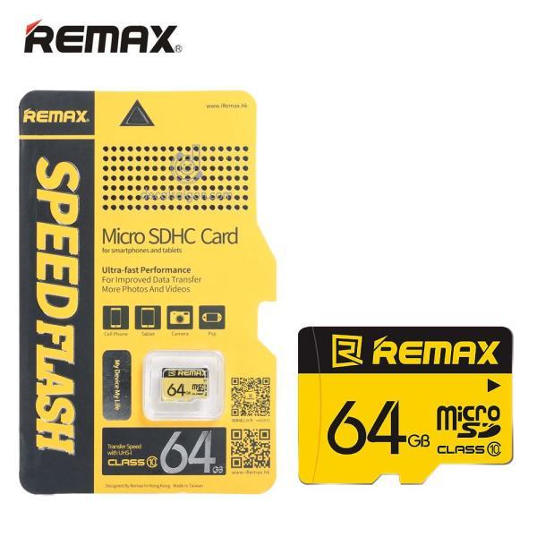 Thẻ nhớ MicroSDHC Remax 64GB 80MB/s (New 2019) - Bảo Hành 5 Năm