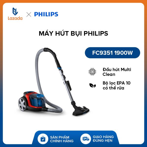 Máy hút bụi Philips FC9351 1900W - Hàng phân phối chính hãng - Đầu hút Multi Clean - Bộ lọc EPA 10 có thể rửa
