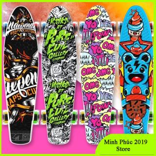 ĐƯỢC CHỌN MẪU- BÁNH TRƯỢT PHÁT SÁNG] VÁN TRƯỢT CAO CẤP 4 BÁNH HỌA TIẾT CÁ TÍNH THỂ HIỆN PHONG CÁCH , Ván Trượt 3D Skateboard Penny Có 4 Đèn Led, ván trượt Skateboard Penny NHỰA PVC thể thao siêu đẹp TRƯỢT CỰC ÊM, KUA CỰC ĐÃ thumbnail
