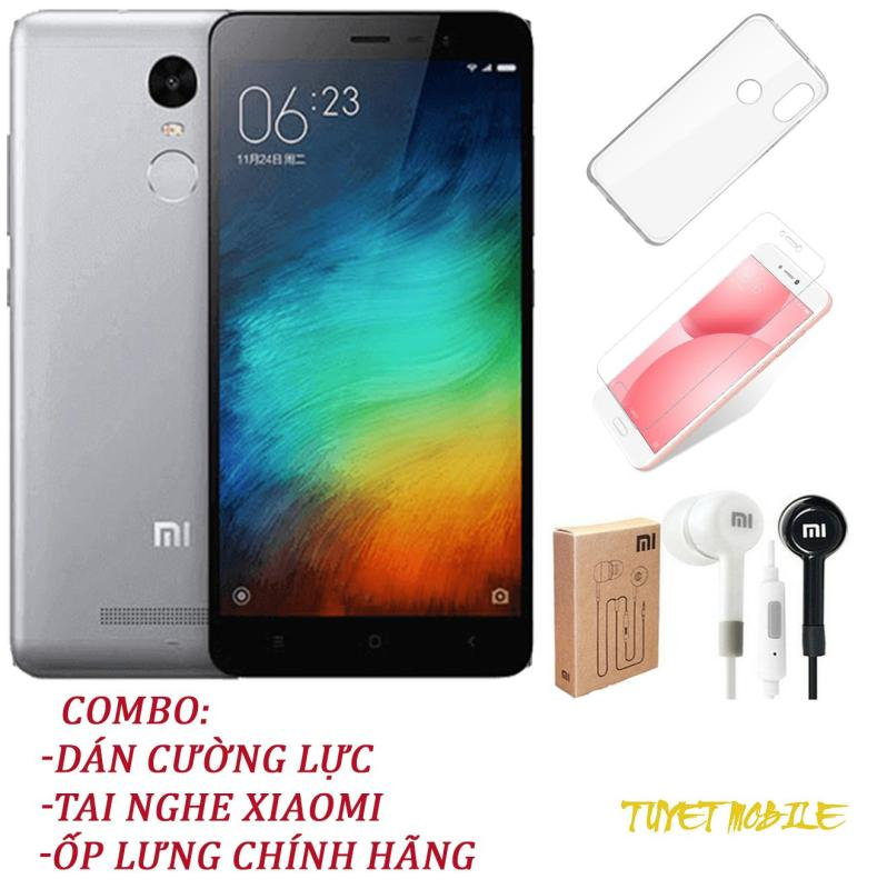 Điện Thoại Xiaomi Redmi Note 3 Ram 3gb Rom 32Gb - Tặng kèm Kính cương lực, Ốp lưng, Tai Nghe - Có sẵn Tiếng Việt