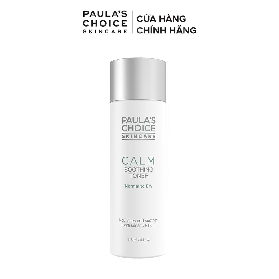 Nước hoa hồng làm dịu mẩn đỏ và phục hồi da khô Paula's Choice Calm Redness Relief Toner Dry Skin