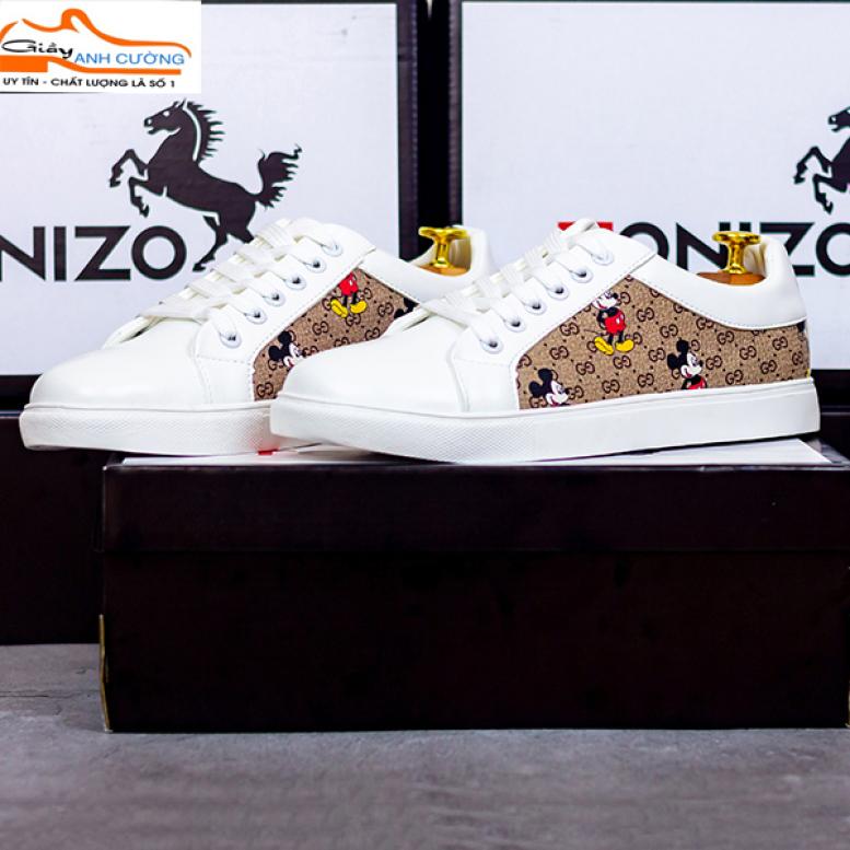 Giày thể thao nam trắng- giày sneaker thể thao nam- giày nam đẹp 2020- giày nam thể thao trắng 2020 giá rẻ