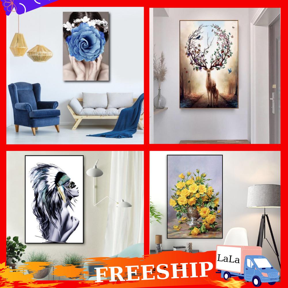[Freeship] Tranh Canvas treo tường LaLaShop khung gỗ thông cao cấp - 20 Mẫu Tranh treo tường nghệ thuật đẹp giá xưởng, Tranh treo tường phòng khách sang trọng, tranh vải treo tường 3d hiện đại