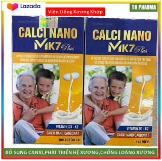 [Hộp 100 viên] Viên uống Liquid Calcium Nano Mk7 Giúp bổ sung Canxi, Vitamin K2, D3 và khoáng chất cần thiết cho cơ thể hỗ trợ phát triển chiều cao ở trẻ, ngừa loãng xương ở người già thumbnail
