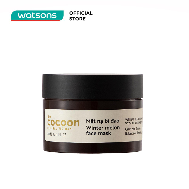 Mặt Nạ Bí Đao Cocoon Winter Melon Face Mask With Centella & Tea Tree Giảm Dầu và Mụn 30ml giá rẻ