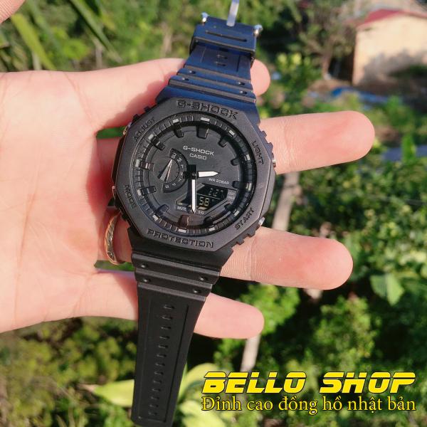 Đồng hồ nam G-Shock GA2100 FULL ĐEN thể thao nam nữ, Chống nước 200M,Tặng kèm pin dự phòng, Bảo hành 12 tháng - BELLO STORE bán chạy