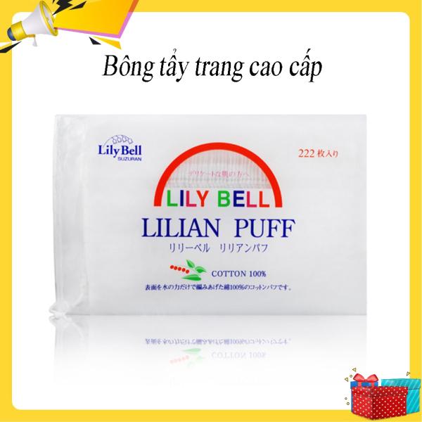 Bông tẩy trang 220 miếng. Bông tẩy trang Lily Bell cao cấp sản phẩm dành cho những cô gái yêu thích làm đẹp