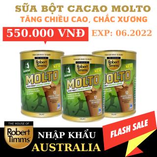 Sữa bột Canxi ca cao Robert Timms Molto Australia 450g giúp tăng trưởng chiều cao, bổ sung Canxi thumbnail