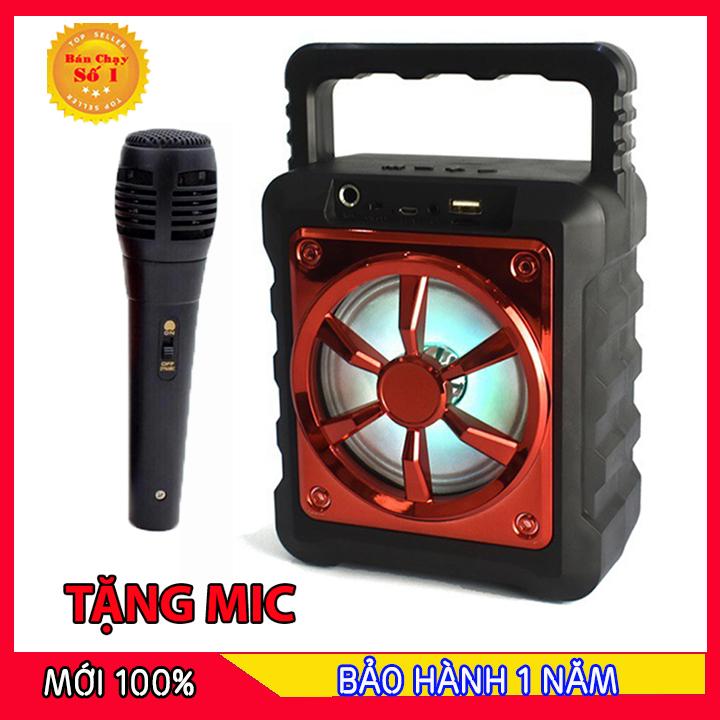 [MIỄN PHÍ VẬN CHUYỂN] loa bluetooth hát karaoke kèm mic, loa bluetooth hát karaoke mini, loa kẹo kéo mini giá rẻ, loa karaoke bluetooth gia đình