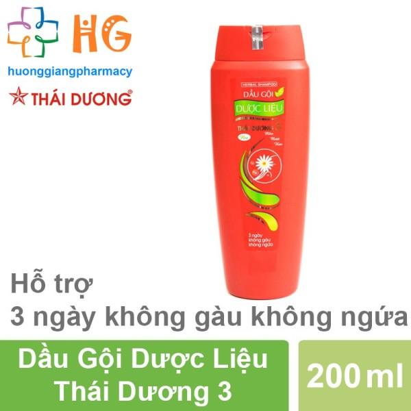Dầu gội dược liệu Thái Dương 3 (Chai 200ml) giá rẻ