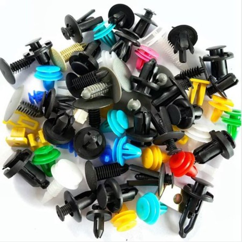 combo hỗn hợp 50 cái vít nhựa các loại để bắt lòng dè chắn bùn, vỏ ba đờ sốc, calang cản trước ô tô