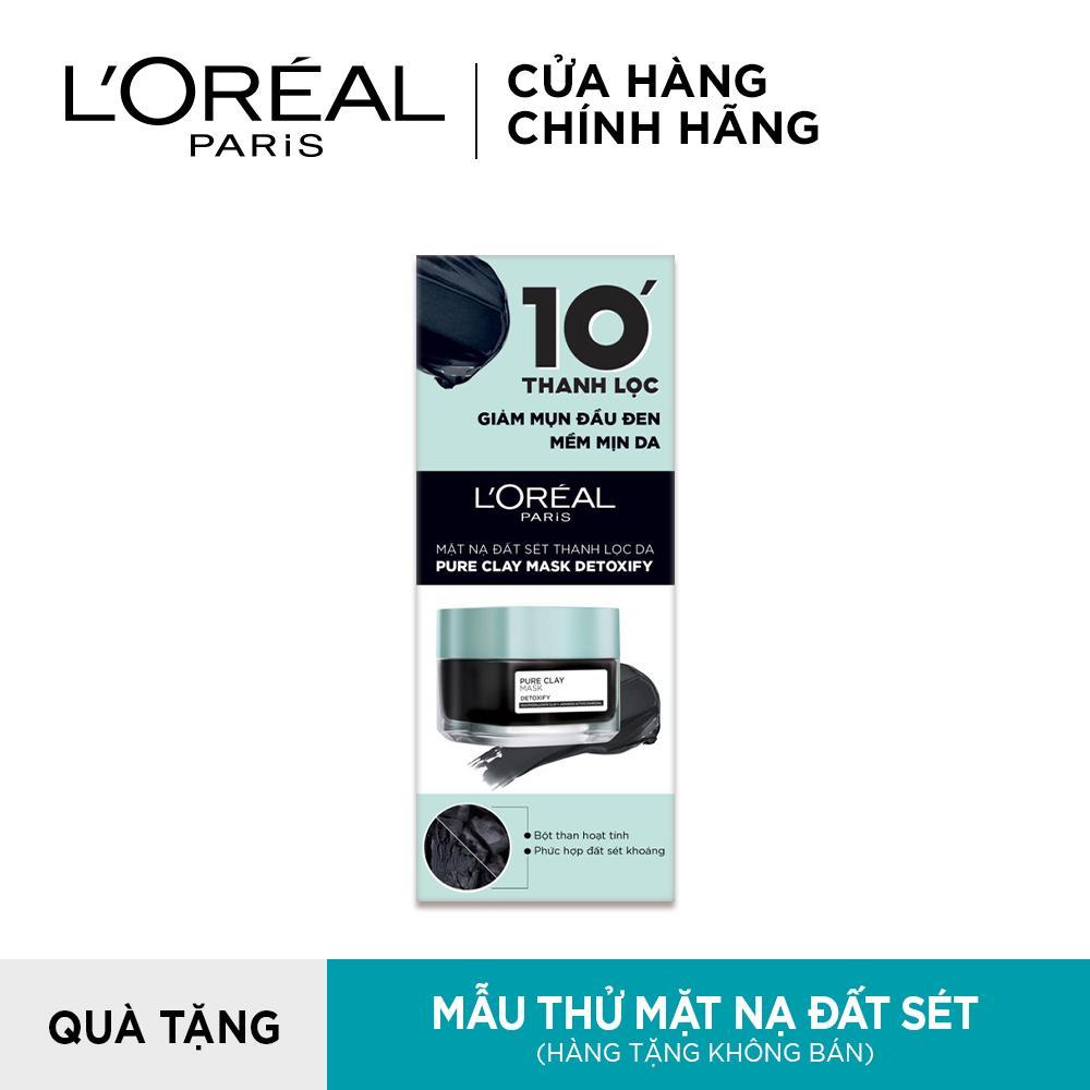 [QUÀ TẶNG KHÔNG BÁN] Mẫu thử mặt nạ đất sét thanh lọc giảm mụn đầu đen L'Oreal Paris Pure Clay Mask Detoxify 5g nhập khẩu