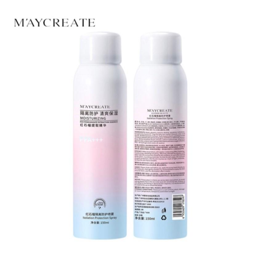 Xịt chống nắng trắng da Maycreate 150ml hàng nội địa Trung - Nem Exclusive