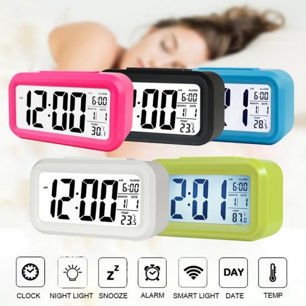 [TẶNG 3 PIN+ VIDEO THẬT] Đồng hồ điện tử để bàn màn hình LED. Đồng hồ đa năng: Báo thức, Lịch, Nhiệt độ. Đồng hồ trang trí phòng ngủ, phòng khách, phòng làm việc, nhà bếp nhỏ gọn tiện lợi
