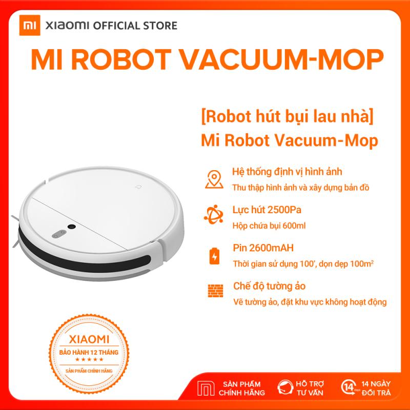 [XIAOMI OFFICIAL] Robot hút bụi lau nhà thông minh Xiaomi Mi Vacuum Mop - Cảm biến bằng hình ảnh 3 chiều, Điều khiển bằng ứng dụng, tự động thiết lập quãng đường, công nghệ AI, Hỗ trợ Google Assistant - Bảo hành Chính Hãng 12 tháng
