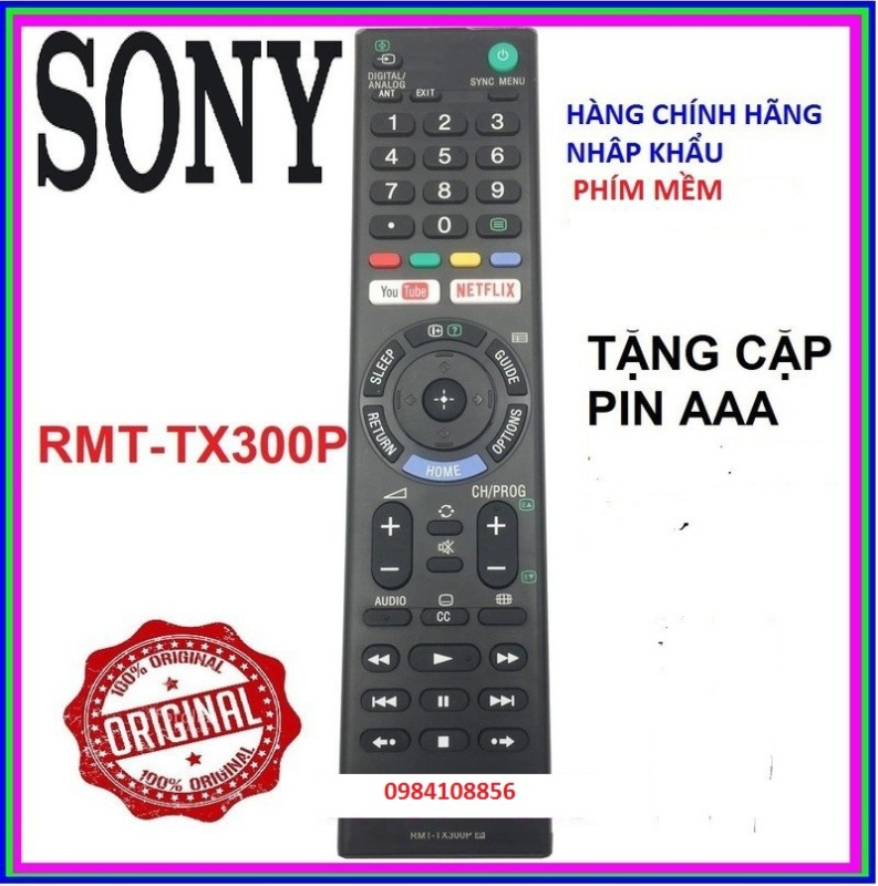 Bảng giá Điều Khiển Tivi Sony RMT - TX300P Cho Mọi Dòng TV Sony - 444