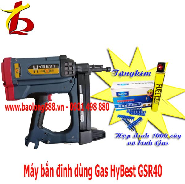[HCM]Máy bắn đinh bê tong ( súng bắn đinh ) dùng Gas HyBest GSR40