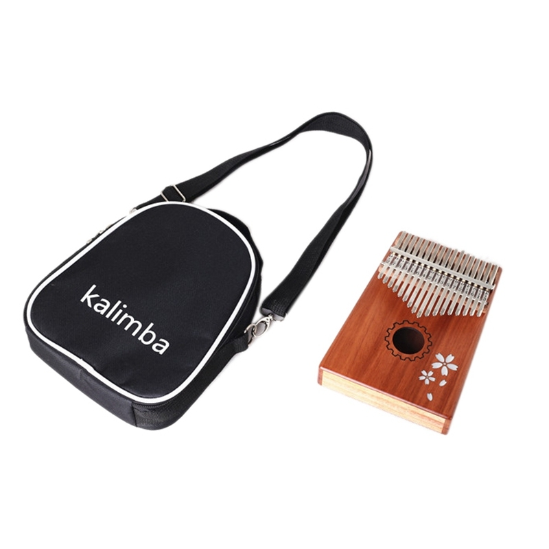 Kalimba Thumb Piano 17 Keys with Bag, Hammer and Music Book, Perfect for Music Lover, Beginners