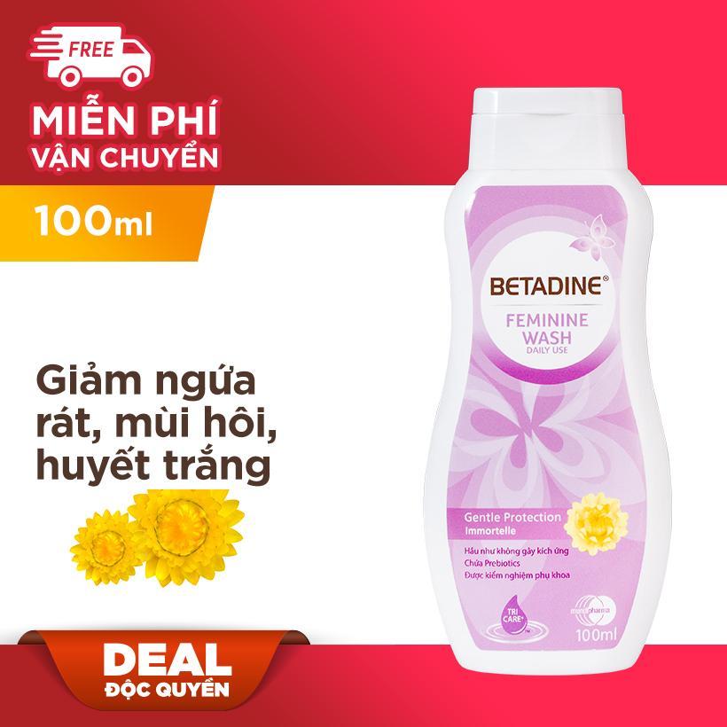 Dung dịch vệ sinh phụ nữ Betadine Gentle Protection - chai 100ml chính hãng